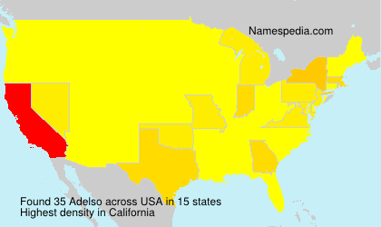 Surname Adelso in USA
