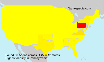 Surname Adens in USA