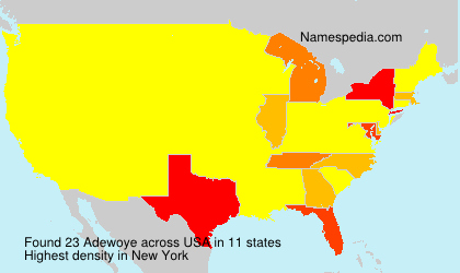 Surname Adewoye in USA