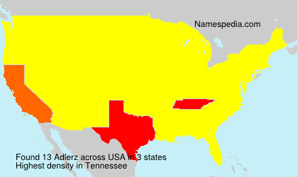 Surname Adlerz in USA