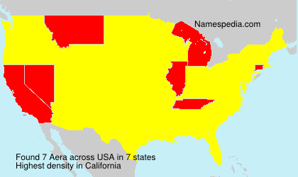 Surname Aera in USA