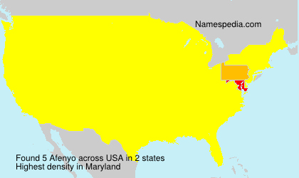 Surname Afenyo in USA