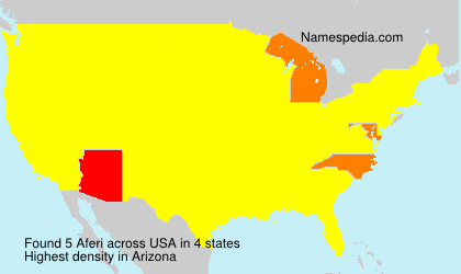 Surname Aferi in USA