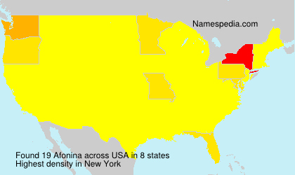Surname Afonina in USA