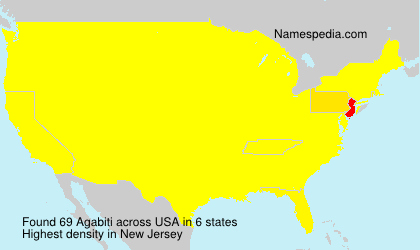 Surname Agabiti in USA