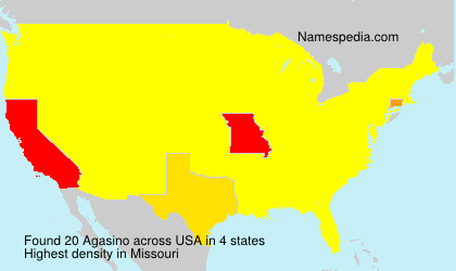 Surname Agasino in USA