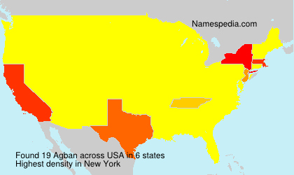 Surname Agban in USA
