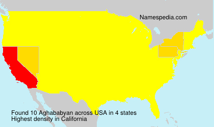Surname Aghababyan in USA