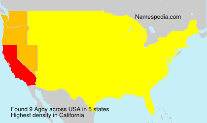 Surname Agoy in USA