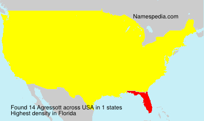 Surname Agressott in USA