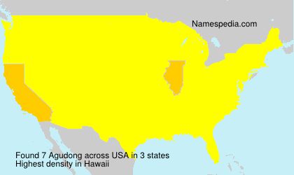 Surname Agudong in USA