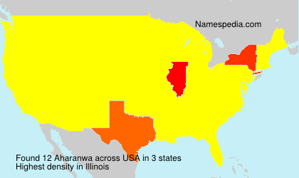 Surname Aharanwa in USA