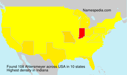 Surname Ahlersmeyer in USA