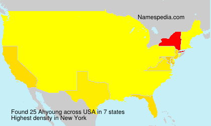 Surname Ahyoung in USA