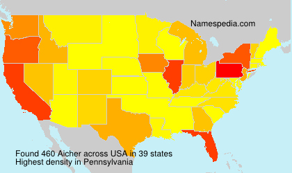 Surname Aicher in USA