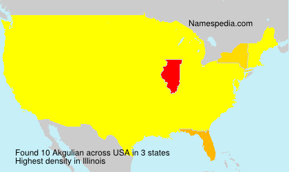 Surname Akgulian in USA