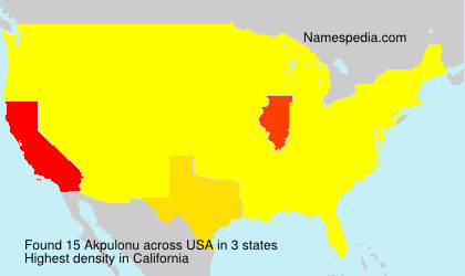 Surname Akpulonu in USA