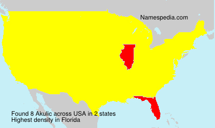 Surname Akulic in USA