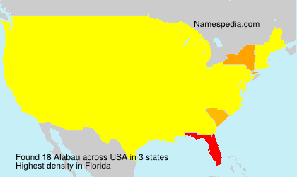Surname Alabau in USA