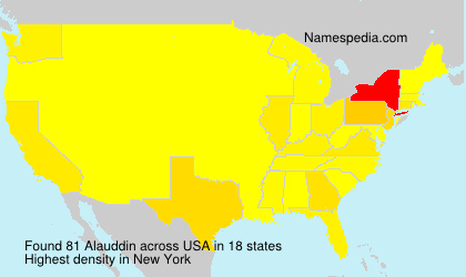 Surname Alauddin in USA