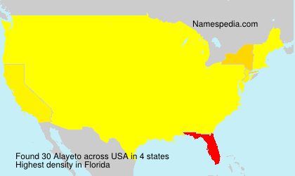 Surname Alayeto in USA