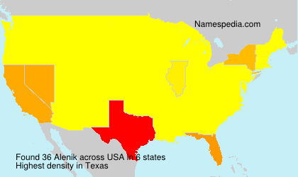 Surname Alenik in USA