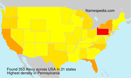 Surname Alexy in USA
