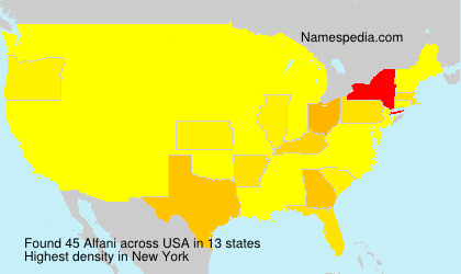 Surname Alfani in USA