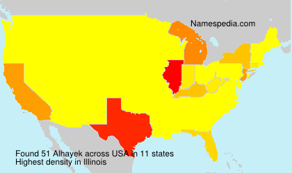 Surname Alhayek in USA