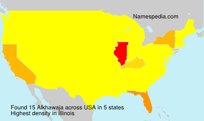 Surname Alkhawaja in USA