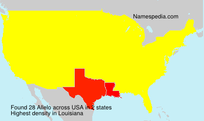Surname Allelo in USA
