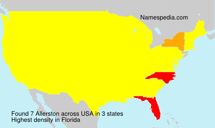 Surname Allerston in USA