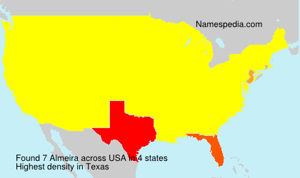 Surname Almeira in USA