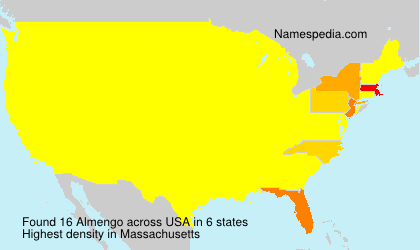 Surname Almengo in USA