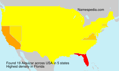 Surname Alquizar in USA