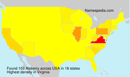 Surname Alsberry in USA