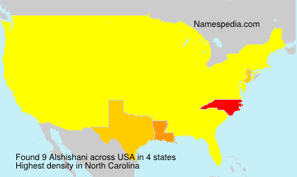 Surname Alshishani in USA