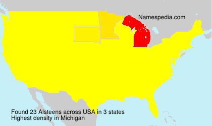 Surname Alsteens in USA