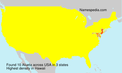 Surname Alueta in USA