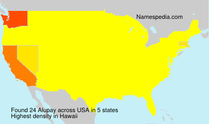Surname Alupay in USA