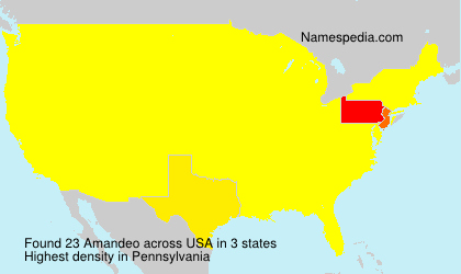 Surname Amandeo in USA