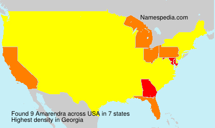 Surname Amarendra in USA