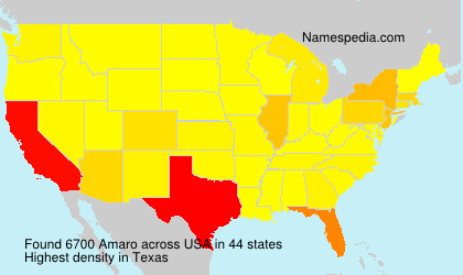 Surname Amaro in USA