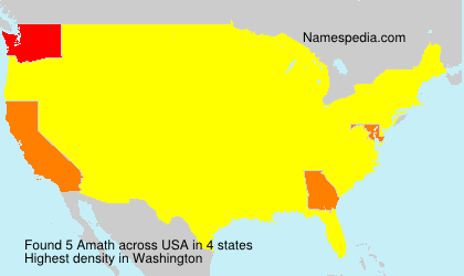 Surname Amath in USA