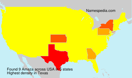 Surname Amaza in USA