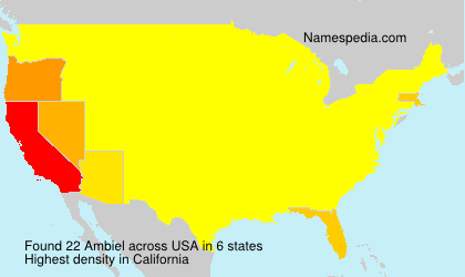 Surname Ambiel in USA