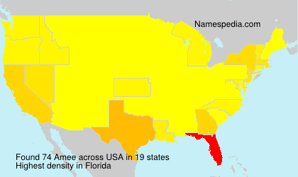 Surname Amee in USA