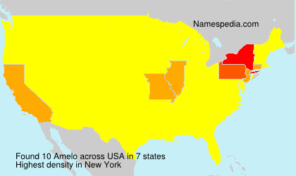 Surname Amelo in USA