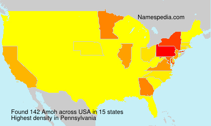 Surname Amoh in USA