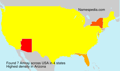 Surname Amray in USA